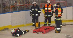 lodowisko strażacy