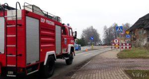 akcja strażaków w pruchnej