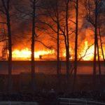 pożar w górkach wielkich tartaku