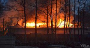 pożar tartaku w górkach wielkich