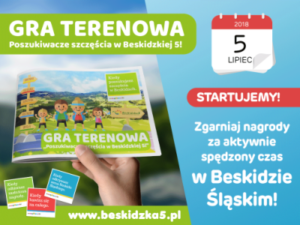 """Ruszyła gra terenowa """"Poszukiwacze szczęścia w Beskidzkiej 5"""""""