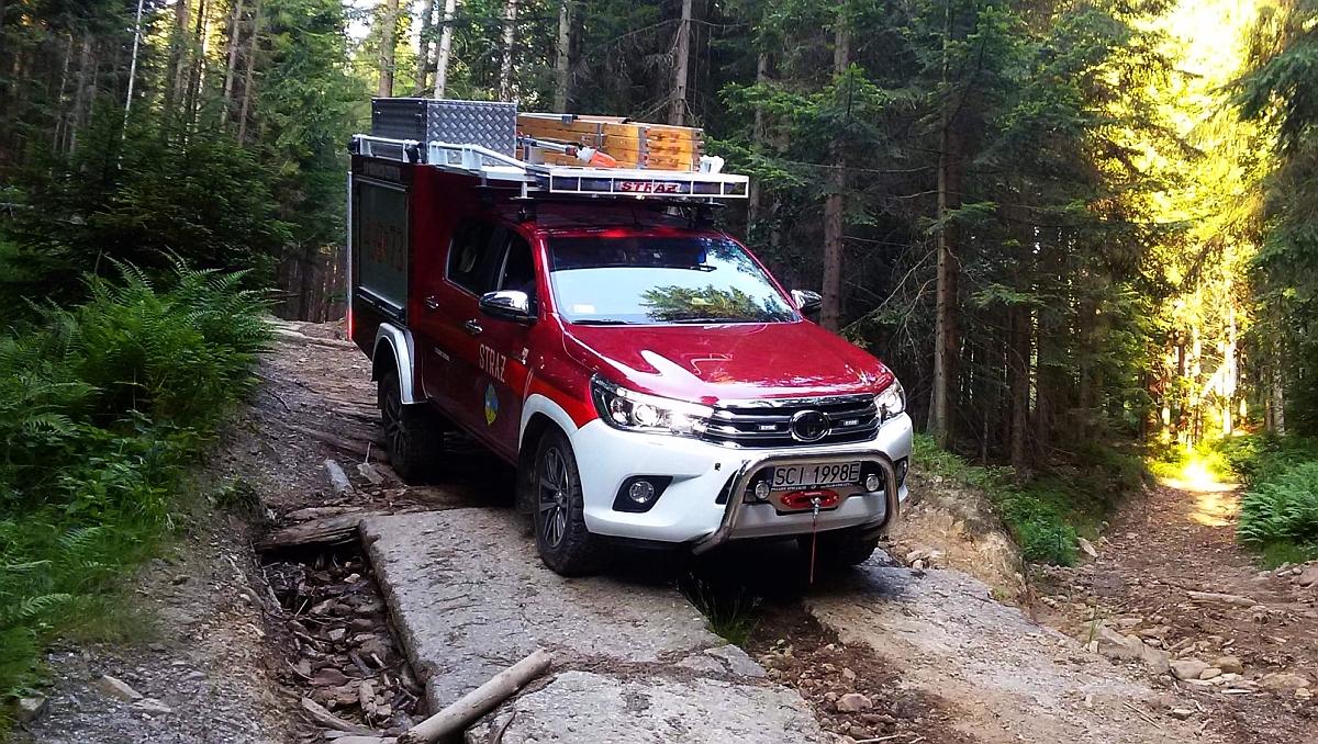Wypadek w lesie: Kierowca był nietrzeźwy