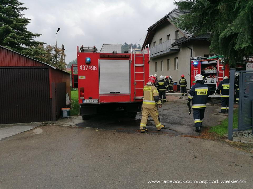 Pożar w Brennej