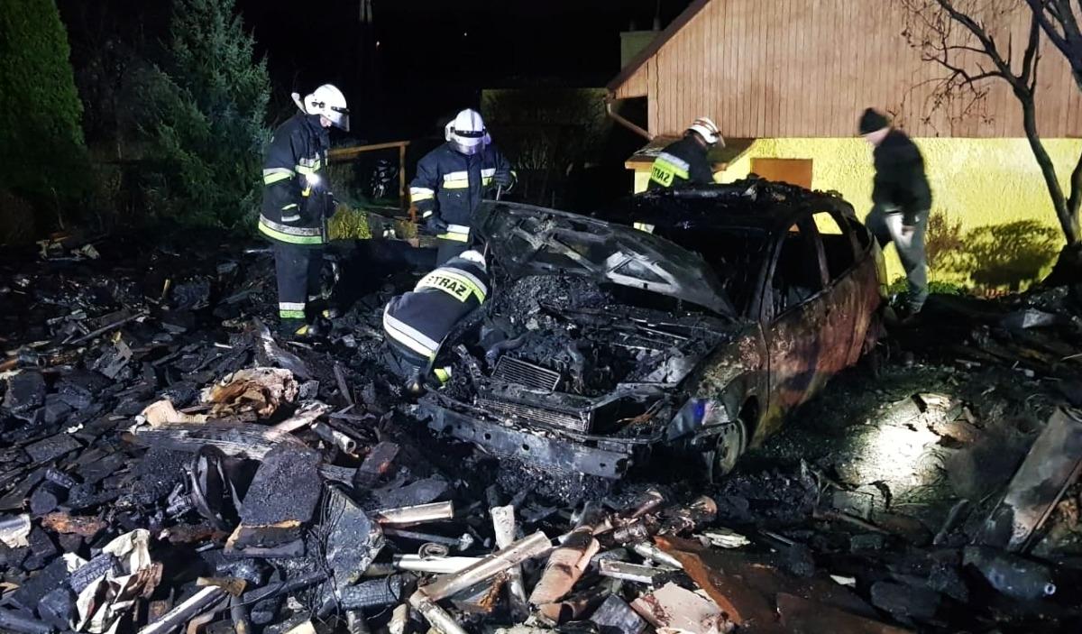 Nocny pożar w Hażlachu