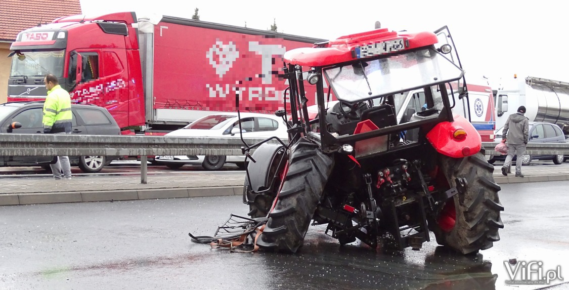 Groźny wypadek w Ochabach  – video